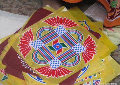 Contemporary kolam plastic sticker-1
