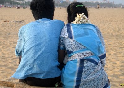 Married couple Chennai beach, South India Sept 2006