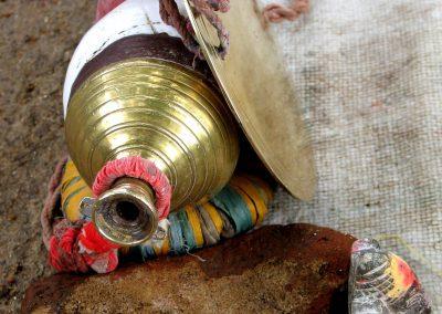 Sadhu Alms, conch and blade, Pothigai, Tamil Nadu, South India