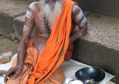 Sadhu with sunglasses and a cigarette, Pothigai, Tamil Nadu, South India